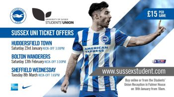 £15 tickets for Brighton & Hove Albion's next home match