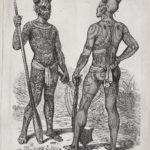 Dalziel after Johann Baptist Zwecker, 'Tattoed Chiefs', illustration for J G Wood, The Natural History of Man