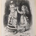 Dalziel after John Tenniel, illustration for 'Wood and Water', in Lewis Carroll [Charles Lutwidge Dodgson], Through the Looking-Glass, and What Alice Found There