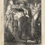 Dalziel after Arthur Hughes, 'The Christening', illustration for George Macdonald, Dealings with the Fairies