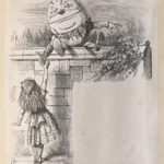 Dalziel after John Tenniel, illustration for 'Humpty Dumpty', in Lewis Carroll [Charles Lutwidge Dodgson], Through the Looking-Glass, and What Alice Found There