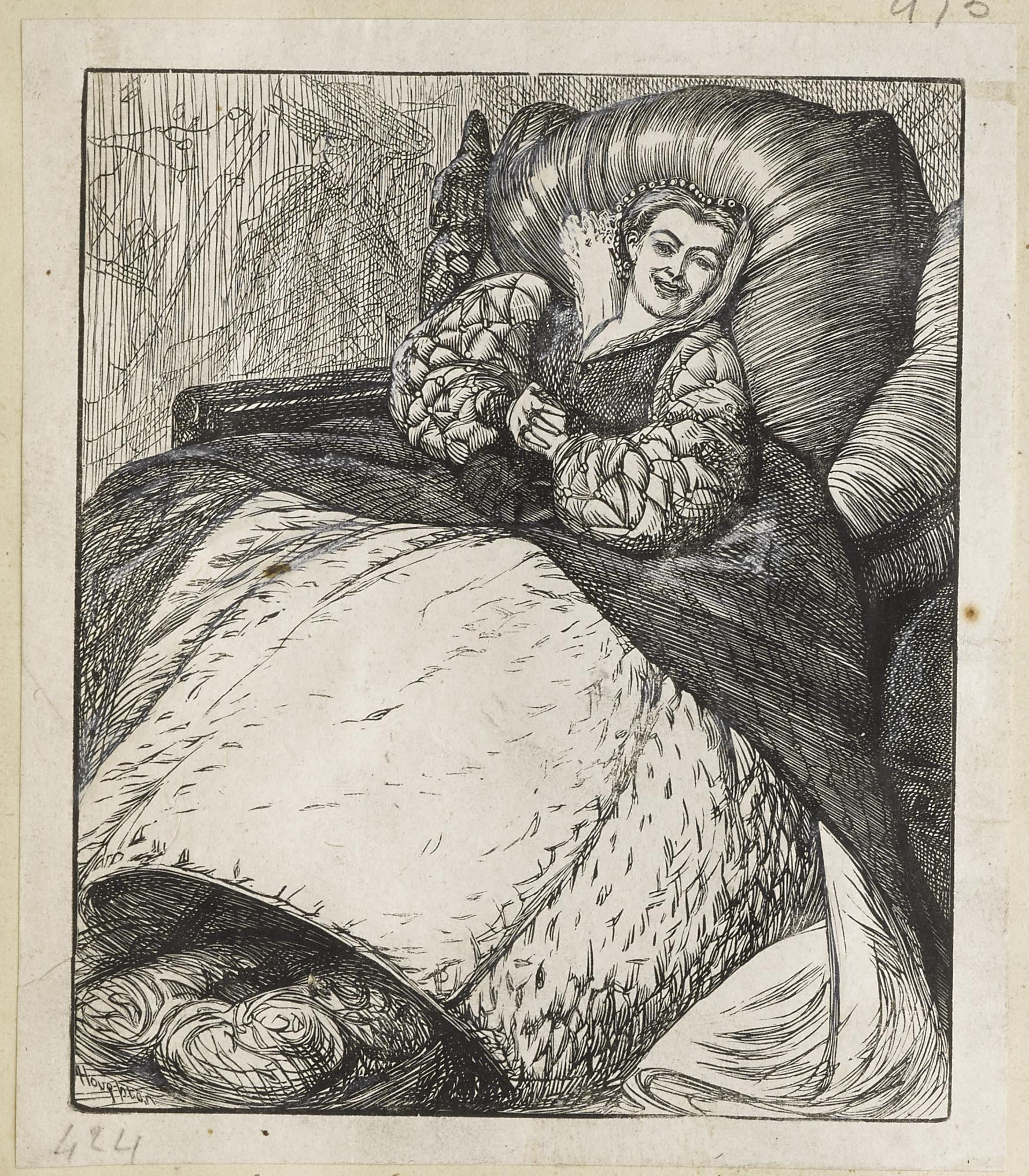 Dalziel After Arthur Boyd Houghton The Duchess Was Convulsed With