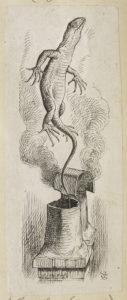 Dalziel after John Tenniel, illustration for 'The Rabbit Sends in a Little Bill', in Lewis Carroll [Charles Lutwidge Dodgson], Alice's Adventures in Wonderland