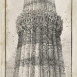 Dalziel, from a photograph, 'Part of first and second Storey of the Kootab-Minar', illustration for Norman Macleod, 'Days in North India'
