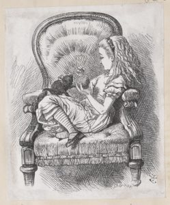 Dalziel after John Tenniel, illustration for 'Looking-Glass House', in Lewis Carroll [Charles Lutwidge Dodgson], Through the Looking-Glass, and What Alice Found There