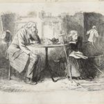 Dalziel after Marcus Stone, 'Miss Wren fixes her idea', illustration for Charles Dickens, Our Mutual Friend