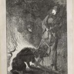 Dalziel after Arthur Boyd Houghton, 'Fight for the Ibex', illustration for Anne Bowman, The Boy Pilgrims