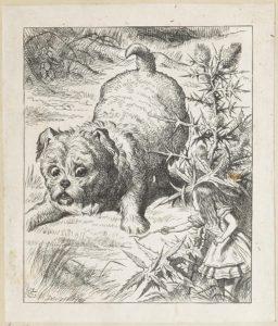 Dalziel after John Tenniel, illustration for 'The Rabbit Sends in a Little Bill', Lewis Carroll
