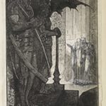 Dalziel, 'Vision of Don Roderick', illustration for Walter Scott, Poetical Works