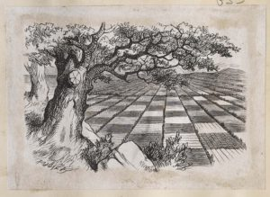 Dalziel after John Tenniel, illustration for 'The Garden of Live Flowers', Lewis Carroll [Charles Lutwidge Dodgson], Through the Looking-Glass, and What Alice Found There