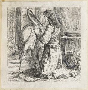 Dalziel after Alfred Walter Bayes, 'A Message to the Viking Woman', illustration for Hans Christian Andersen, Stories for the Household