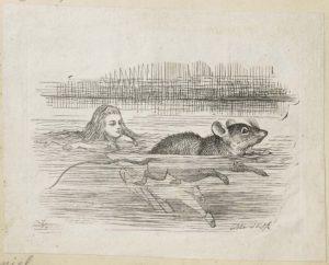 Dalziel after John Tenniel, illustration for 'The Pool of Tears', Lewis Carroll [Charles Lutwidge Dodgson], Alice's Adventures in Wonderland