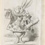 Dalziel after John Tenniel, illustration for 'Who Stole the Tarts?', in Lewis Carroll [Charles Lutwidge Dodgson], Alice's Adventures in Wonderland