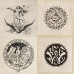 Dalziel, logos for their own art books, the Manchester printer Excelsior and publishers Frederick Warne and Alexander Strahan