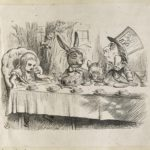 Dalziel after John Tenniel, illustration for 'A Mad Tea Party', in Lewis Carroll [Charles Lutwidge Dodgson], Alice's Adventures in Wonderland