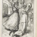 Dalziel after Arthur Boyd Houghton, 'Morgiana dancing before Ali Baba', illustration for George Fyler Townsend (trans.), The Arabian Nights' Entertainments