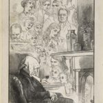 Dalziel after Florence Claxton, 'Faces in the Fire', in London Society