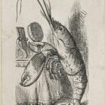 Dalziel after John Tenniel, illustration for 'The Lobster Quadrille', in Lewis Carroll [Charles Lutwidge Dodgson], Alice's Adventures in Wonderland