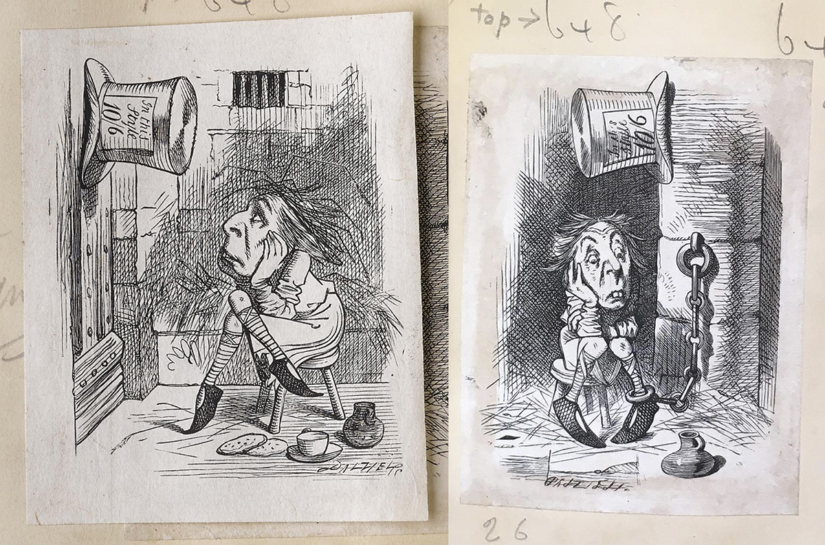 The Hatter and the King's Messenger, Dalziel after John Tenniel for Lewis Carroll's Alice