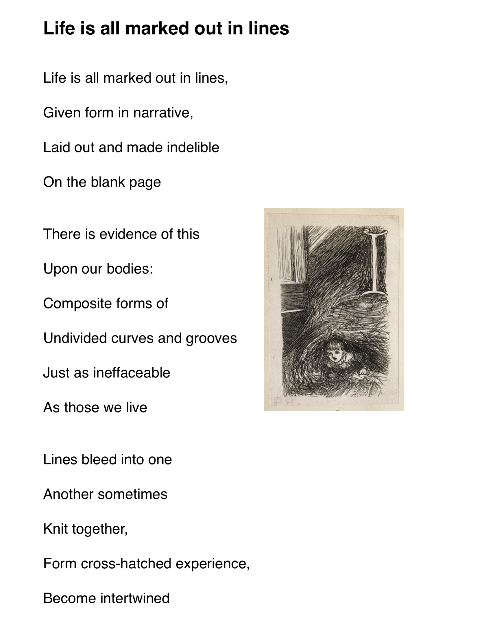 Life is all marked out in lines, by George Clutterbuck