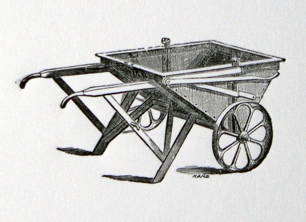 Print of a Coalbrookdale Company 'Hot Coke Barrow'.