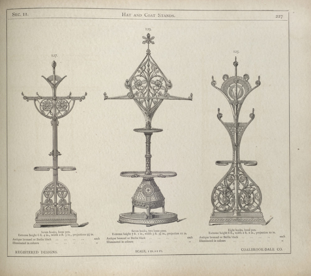 A page from the 1875 Coalbrookdale Company catalogue, printed by The Brothers Dalziel.