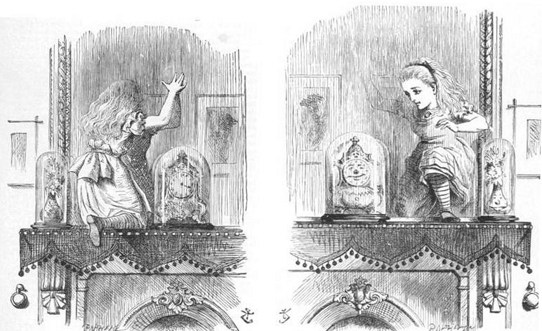 Dalziel Bros, wood engravings after drawings by John Tenniel, published in Lewis Carroll, Through the Looking Glass