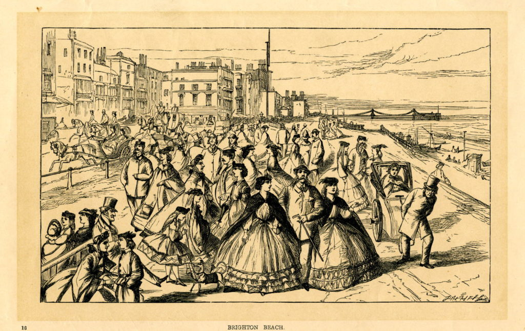 Figure 3. 'Brighton Beach'. Dalziel brothers engraving after William McConnell for Pictures of Society (1866)