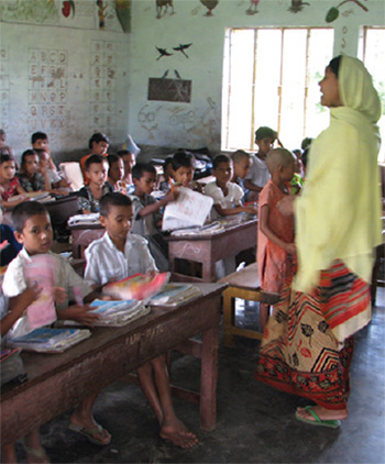School classroom in Bangladesh