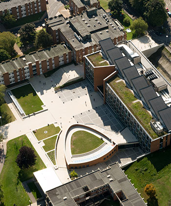 Aerial view of the Jubilee building