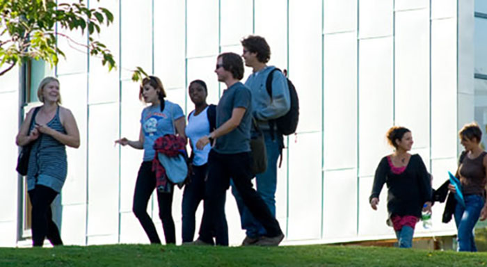Students at the Jubilee Building, University of Sussex