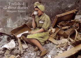 Our Longest days book cover - woman drinking tea sitting on bombsite