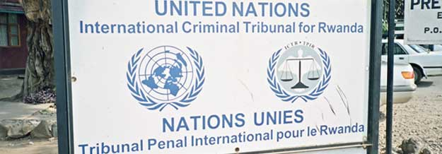 United Nations - International Criminal Tribunal for Rwanda sign