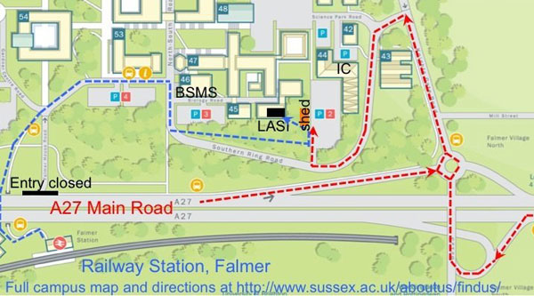 how to get to sussex university