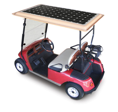 Solar powered cart
