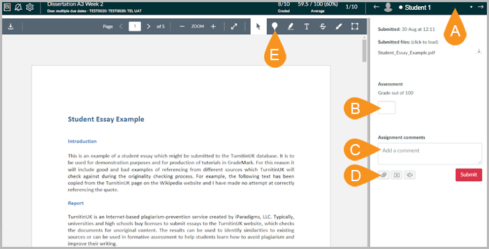 Marking with Canvas Online (Speedgrader) : e-Submission and e