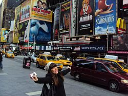 2014 University of Miami Year Abroad Student Sophie enjoying a day trip to New York City