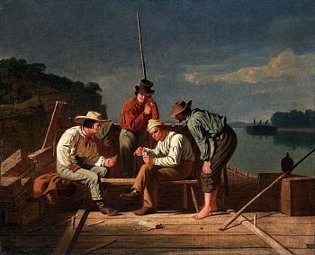 George_Caleb_Bingham_-_In_a_Quandary,_or_Mississippi_Raftsmen_at_Cards[3]