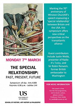Special Relationship event poster
