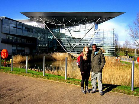 Melissa and Netsanet at Met Office