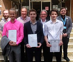 Final year prize winners 2016