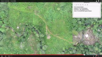 Imagery collect by the drone to map and monitor the Conservation Chocolate project
