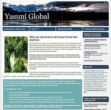 Yasuni Global website