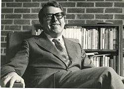 Picture of Lord Asa Briggs, former Vice Chancellor of Sussex