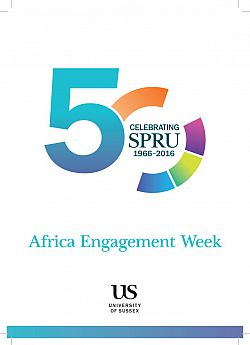 Cover of SPRU Africa leaflet