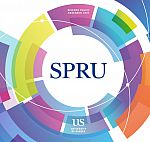 Front cover of new SPRU brochure with SPRU badge