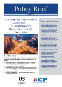 Infrastructure policy brief cover image