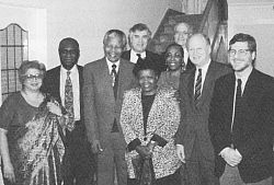Geoff Oldham and others with Nelson Mandela