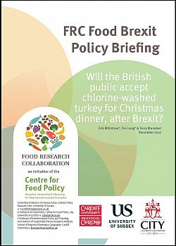 FRC Food Policy Briefing - Chlorine washed turkey