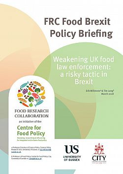 Weakening UK food law enforcement - report cover image